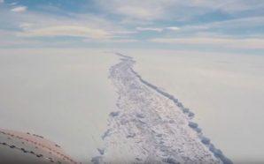 Tεράστιο παγόβουνο είναι έτοιμο να αποκολληθεί από το ρήγμα της…