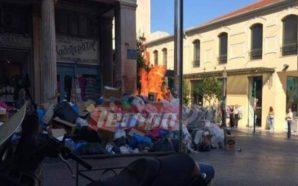 Πάτρα: Λαμπάδιασαν κάδοι σκουπιδιών – Αποπνικτική η ατμόσφαιρα