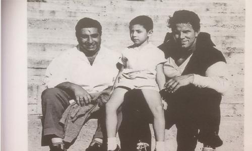 Ο Κος Ανδρέας Σιζόουλος με τον υιό του Ανδρέα και τον Μυθικό Ηρακλή του κινηματογράφου Reg Park