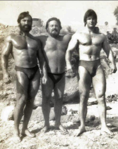 Άγιος Κοσμάς 1976 - Με τον Κωστογλάκη και τον μεγαλύτερο Έλληνα κάτσερ Ανδρέα Λαμπράκη