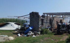 Τοπικός ανεμοστρόβιλος σάρωσε την Μπούζι Αγρινίου