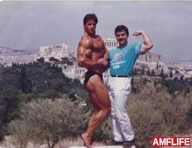 4e7bf4d7ab Ο Σπύρος Μπουρνάζος με τον φίλο και συναθλητή του Γιώργο Δαλιάνη