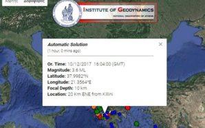 Ηλεία: Kαταγράφηκαν περισσότερες από 10 δονήσεις χθες το απόγευμα