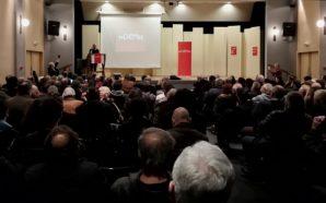 Σε κατάμεστη αίθουσα στο Παπαστράτειο Μέγαρο στο Αγρίνιο το DiEM25