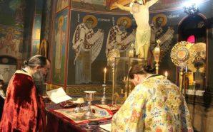 Φωτό από τη θεία Λειτουργία της Κυριακής της Ορθοδοξίας στον…