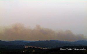 Ηλεία: Μεγάλη πυρκαγιά στη Φρίξα Κρεστένων (LIVE εικόνα)