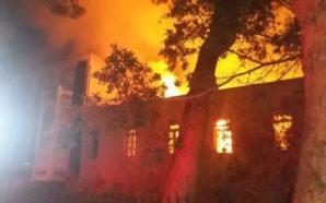 Κάηκε το Πολεμικό Μουσείο στα Χανιά