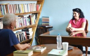 O γνωστός σκηνοθέτης Νώντας Σαρλής επισκέφτηκε την Βιβλιοθήκη Σπάρτου!